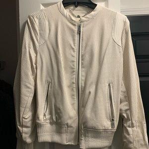 Off White Leather Jacket